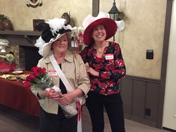 Winner of the 2017 Derby Hat Contest - Kenlyn Nash-Demeter with Alice Osterman