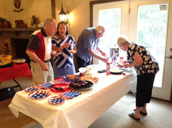 July 4 2017 - Discussion at the dessert table