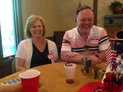 Memorial Day 2017 - Sue and Dick Austin enjoying the party