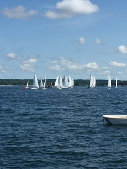 Sailboat races on Geneva Lake