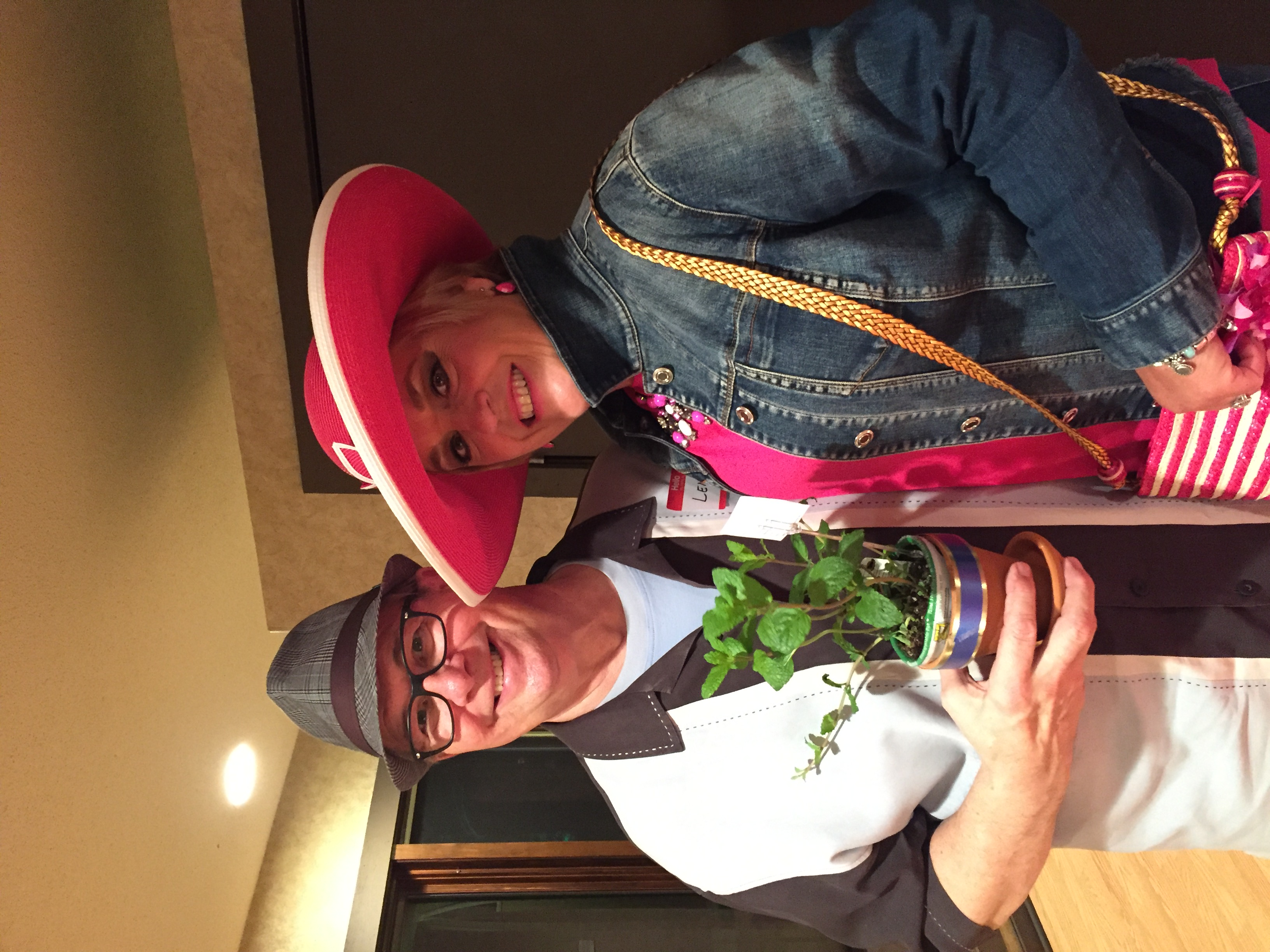 Lucky winners of a mint plant to make mint juleps at home