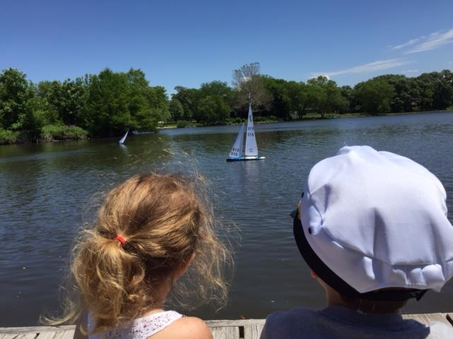 Kids enjoying the RC boats