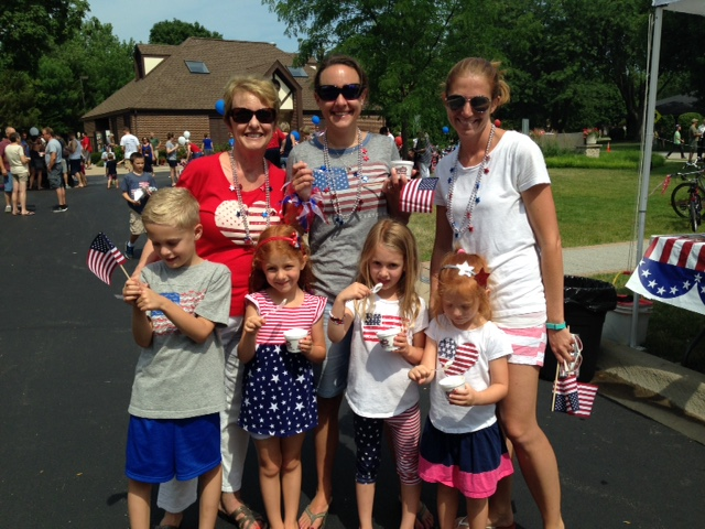 July 4 2017 - A happy group in red, white and blue!