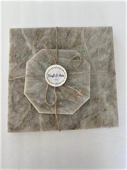 Square Quartzite Cheese Board Set