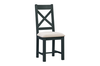 CROSS BACK CHAIR FABRIC SEAT SET UP | NWXF P35