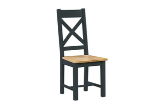 CROSS BACK CHAIR FIXED WOODEN SEAT | NWXF P35WD