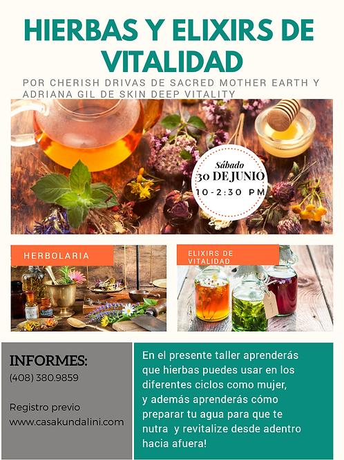 TALLER:  HIERBAS Y ELIXIRS DE VITALIDAD