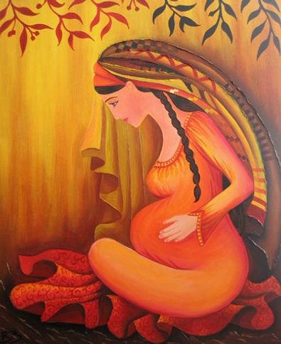 maternite-jeune-femme-enceinte-tableau-o