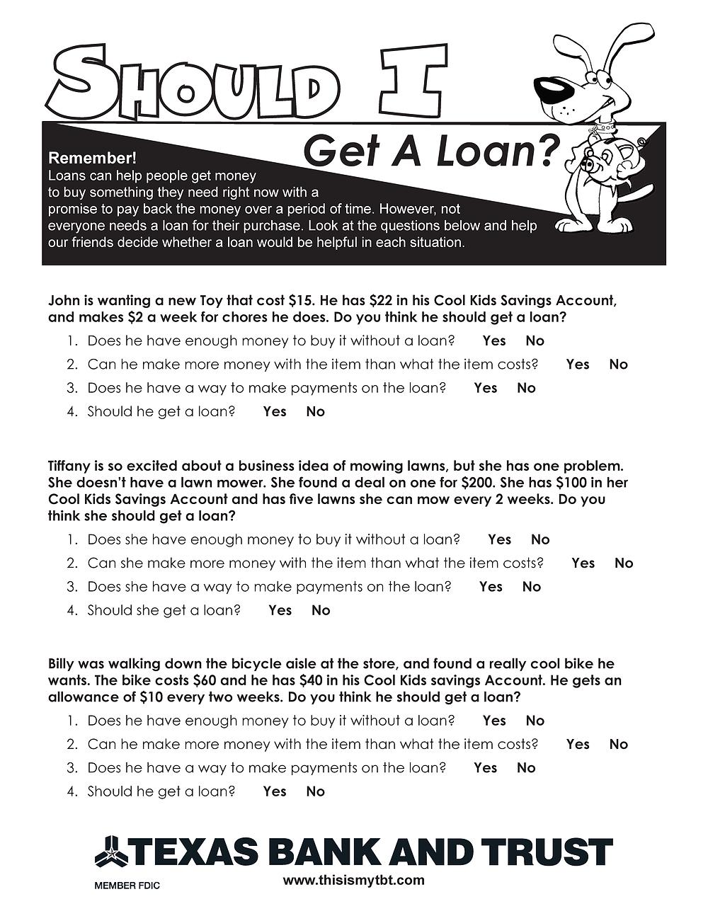 Should I Get A Loan?