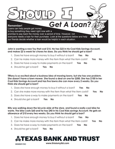 Lesson 3 - Should I Get A Loan?