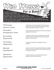 Lesson 3: Who Works at a Bank? (Part 2)