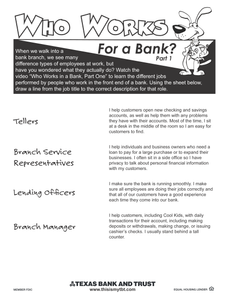 Lesson 2: Who Works at a Bank? (Part 1)