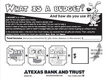 Budgeting Sheet 1