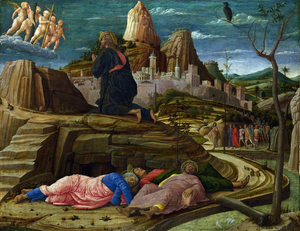 Andrea Mantegna. Orazione nell'orto, 1455, National Gallery, Londra