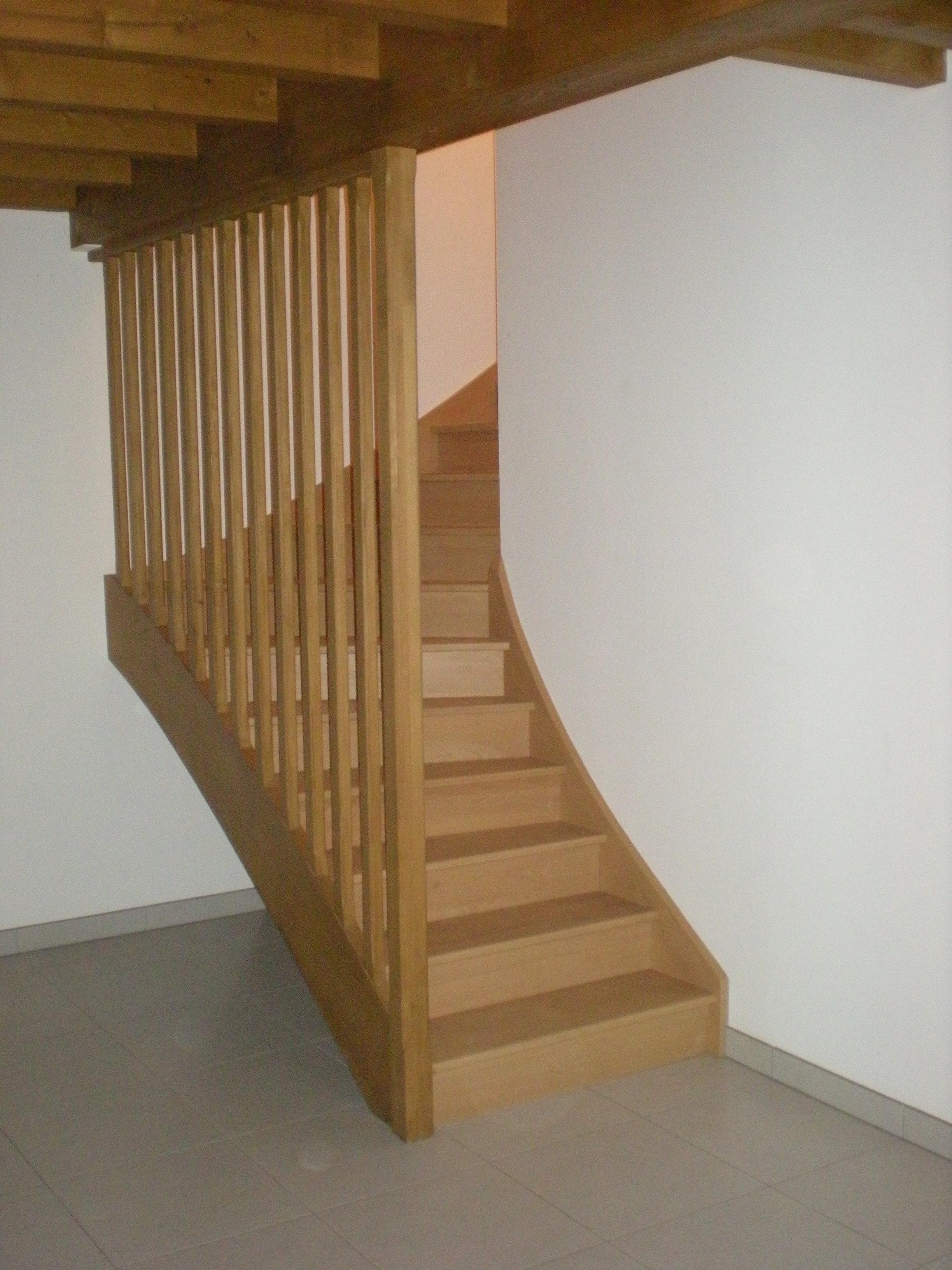 Escalier avec marche et contre marche