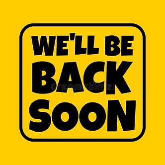text-ll-be-back-soon-sign-absent-break-c