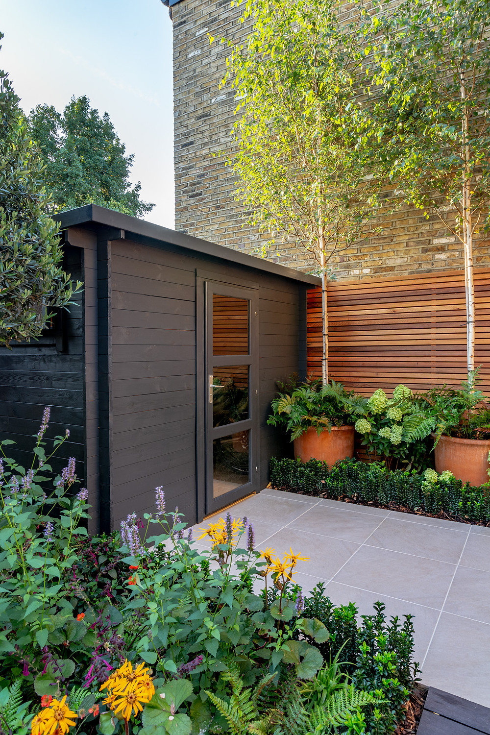 Large storage unit with door for back garden