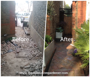 Edwardian terrace garden before and after