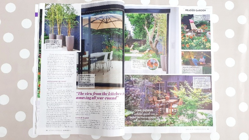 Article in Modern Gardens magazine featuring the Distinctive Gardener