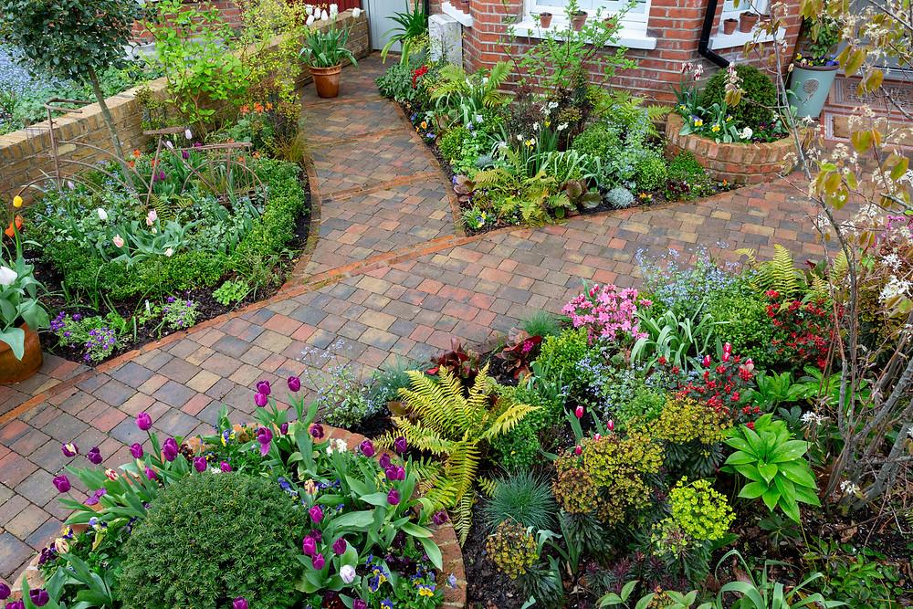 Brick paving front garden