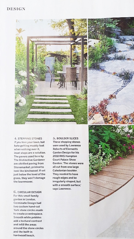 Stepping stones by the Distinctive gardener in Homes and Gardens magazine April 2019