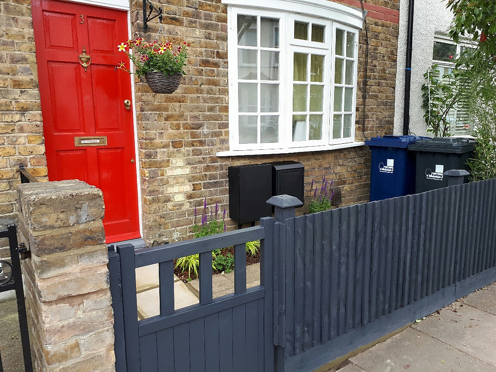 Ridley Road narrow front garden transformation by the Distinctive Gardener