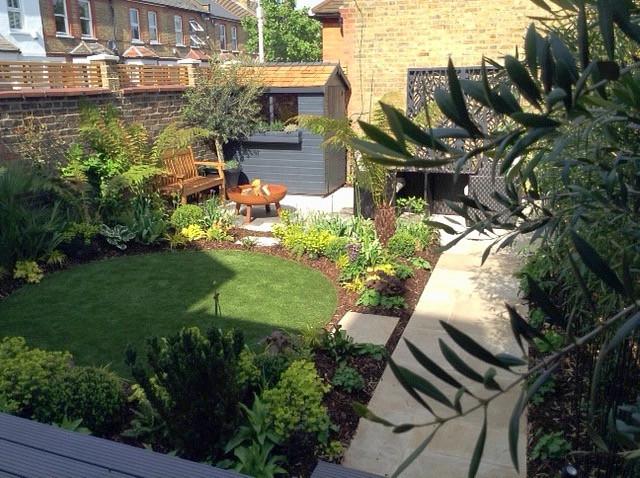Midhurst garden after transformation