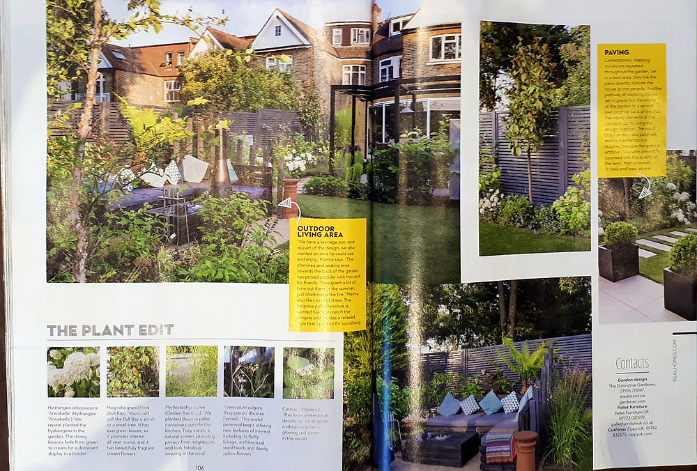Article in Real Homes Magazine featuring the Distinctive Gardener