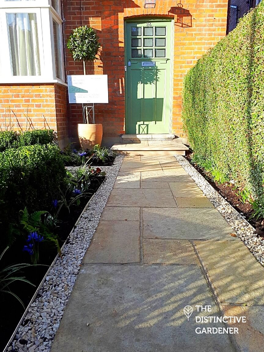 The new limestone path