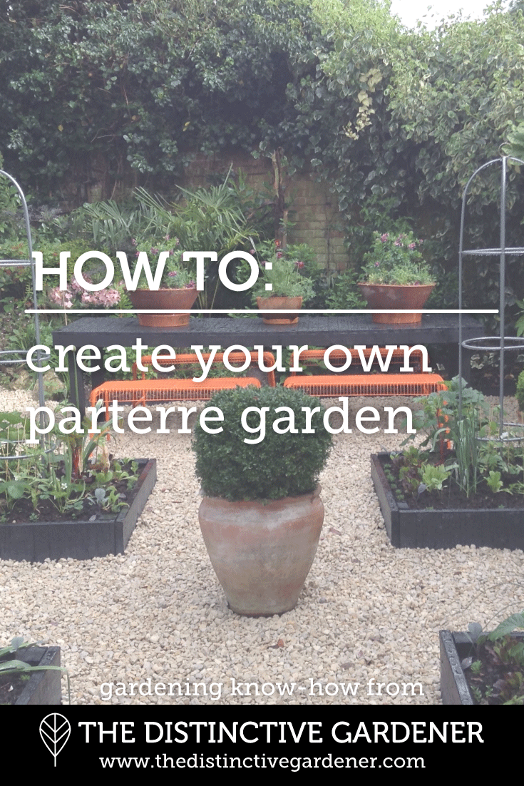 How to build a parterre garden