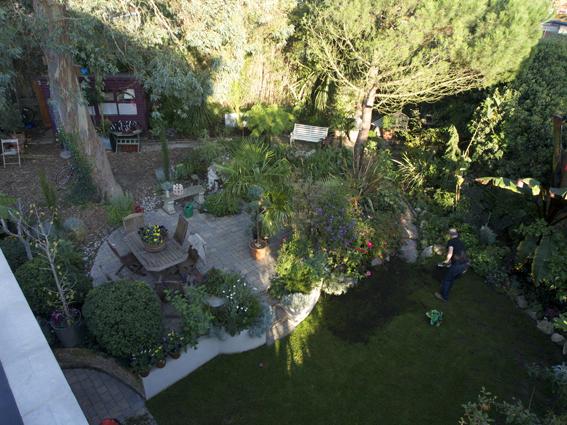 View over the garden terrace