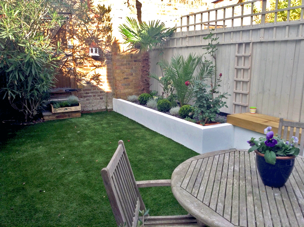 Chiswick, west London, garden after transformation
