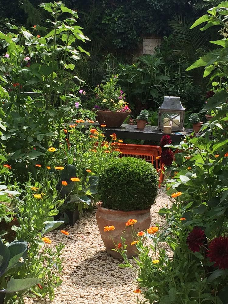 The parterre garden July 2016