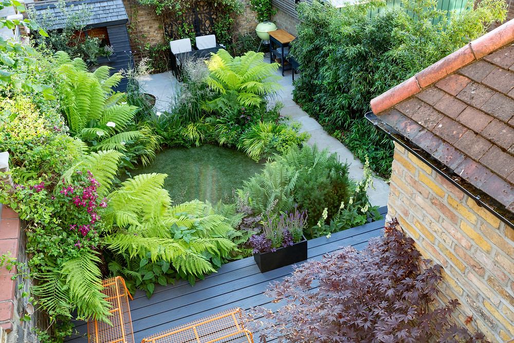 The garden viewed from above