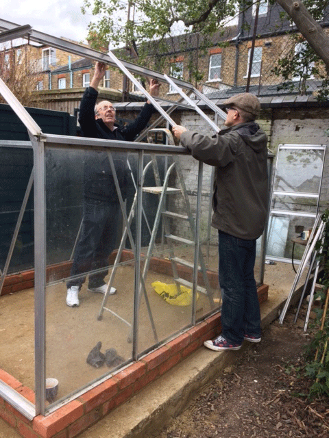 Constructing begins on the greenhouse