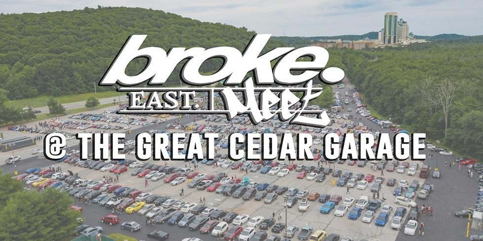 broke.East Meet @ FOXWOODS RESORT CASINO  (Great Cedar Garage)