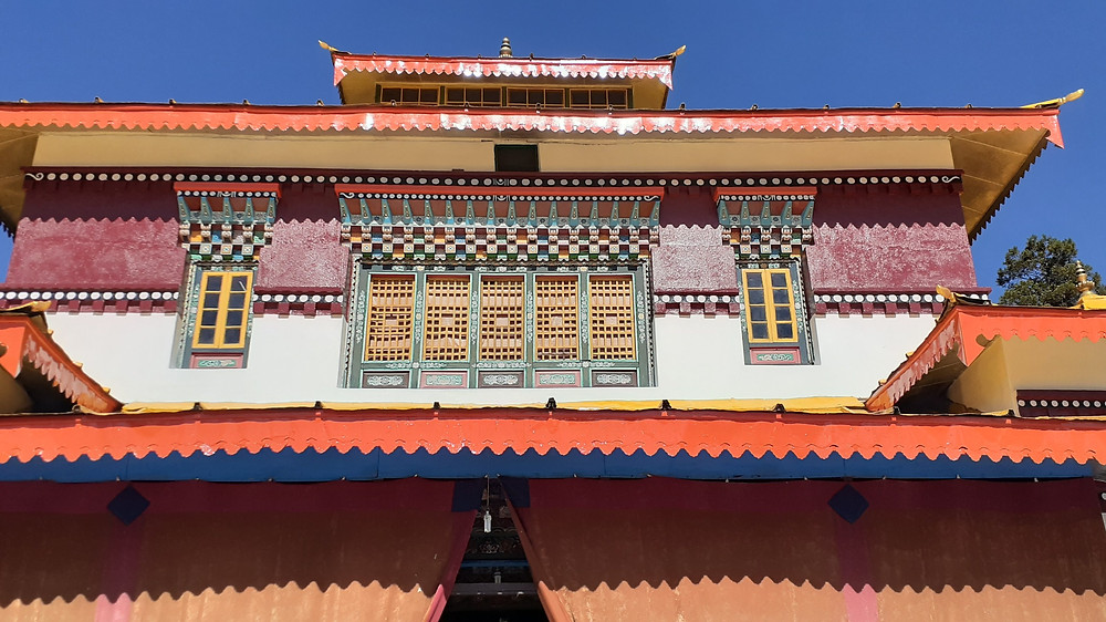 A beautiful colorful exterior of the Monastery