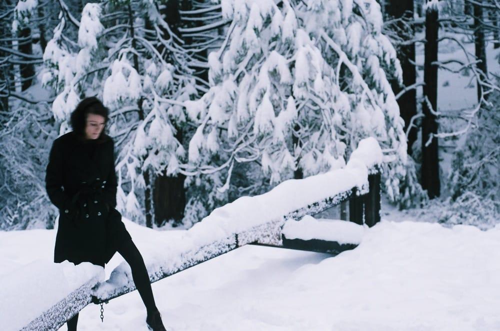 britt in the stanislaus snow