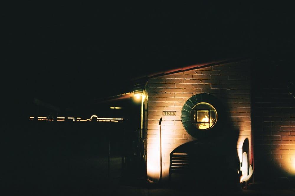 joshua tree inn at night
