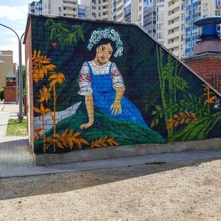 Граффити оформление двора