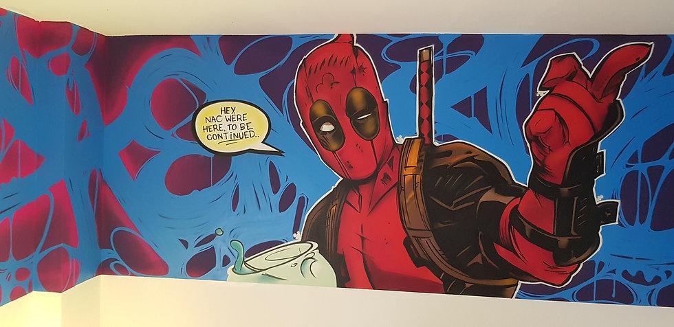 Deadpool graffiti