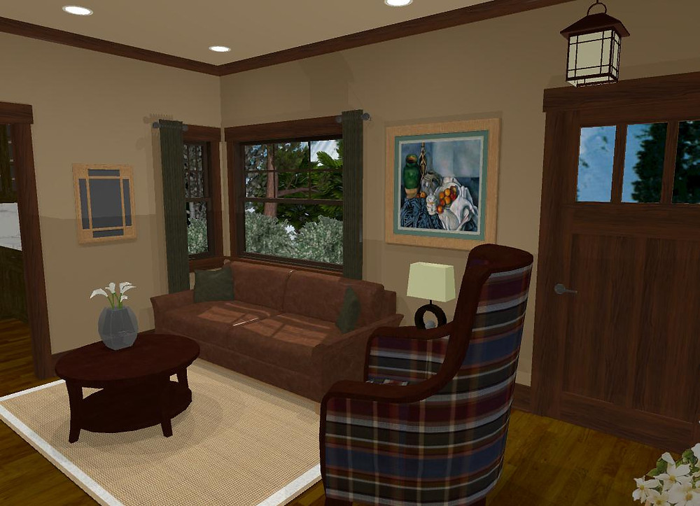 3D Model Paint Option Shown In Benjamin Moore Lennox Tan