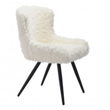 Faux Fur Dining Chair