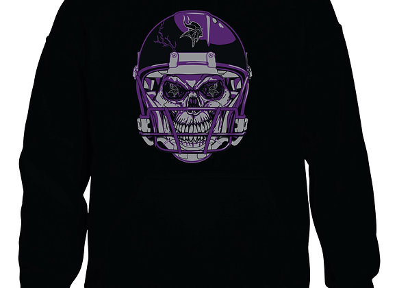 Viking Football Skull Hooded Sweatshirt