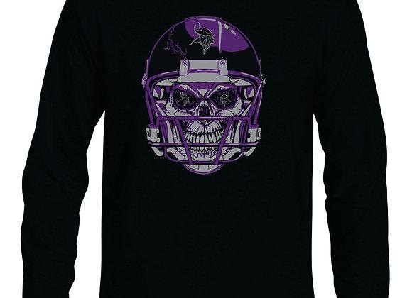 Viking Football Skull Long Sleeve