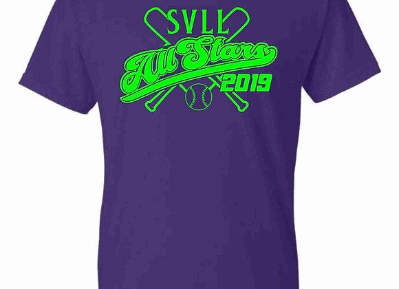 2019 Purple ALL STAR Tee Shirt