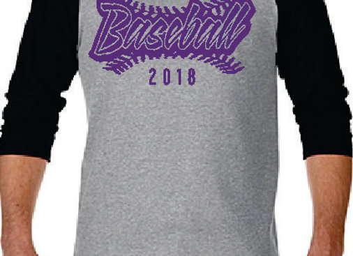Grey/Black Baseball Raglan