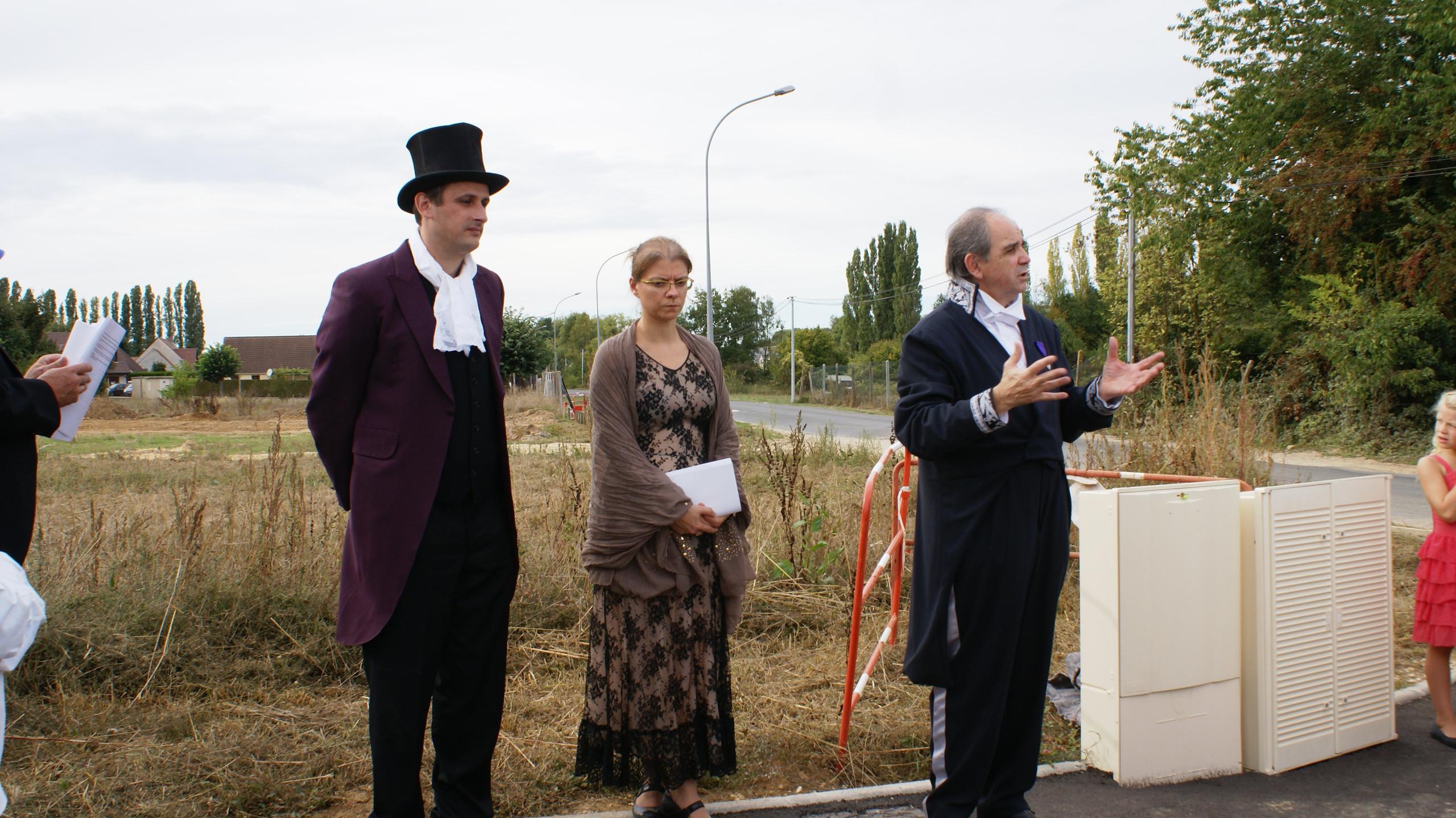 inauguration d'une nouvelle rue