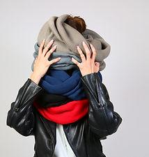 Cowl Rib Knit scarf
