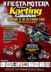 Fiesta motera Karting Cabañas Raras